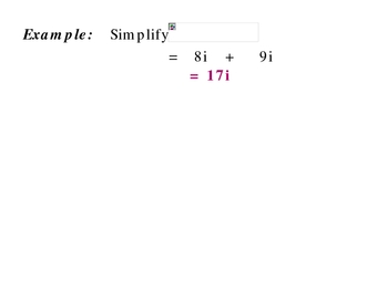 5-5 Complex numbers