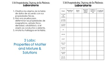 5.5 Matter Bundle in SPANISH