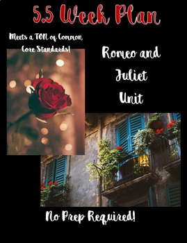 5.5 WEEK Romeo and Juliet Unit with FUN Class Competitions