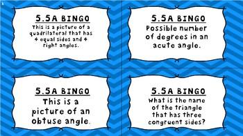 5.5A Bingo Task Cards-5th Grade Math TEKS