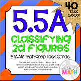 5.5A: Classifying Polygons STAAR Test-Prep Task Cards (5.G
