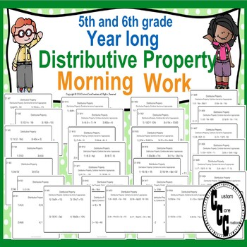5-6 Grade Distribution Morning Work Back to School