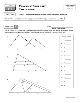 5-6 Triangle Similarity Challenge