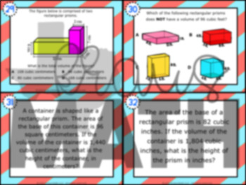 5.6B: Volume of Rectangular Prisms STAAR Test-Prep Task Cards (GRADE 5)