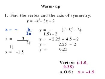 5-7 Graph quadratic inequalities