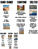 5.7B - Landforms (Sand Dunes, Deltas, and Canyons) Card Sort