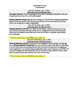 5-8 Grade Band Reading Curriculum/Program (April)