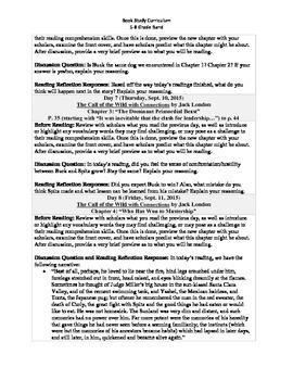 5-8 Grade Band Reading Curriculum/Program (September)