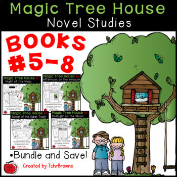 #5-8 Magic Tree House Novels - Novel Study Units