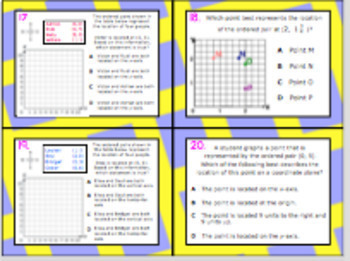 5.8B (DECK 2): Graphing in the 1st Quadrant STAAR Test Prep Task Cards!