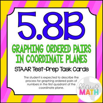 5.8B: Plotting Points STAAR Test-Prep Task Cards (5.OA.3)