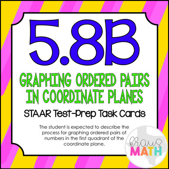 5.8B: Plotting Points STAAR Test-Prep Task Cards (5.OA.3)