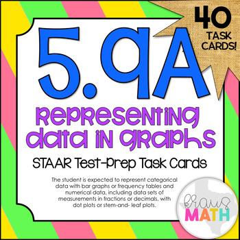 5.9A: Representing Data STAAR Test-Prep Task Cards (GRADE 5)