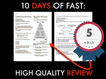 5 A Day Test Review #3 With KEY