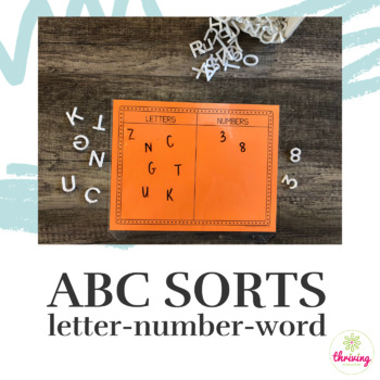 5 ABC Sorts: Letter, Number, Word
