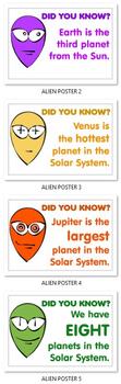 5 ALIEN POSTERS ( Solar System )