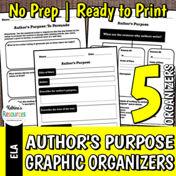 5 Activities for Author's Purpose