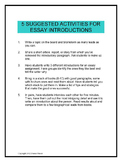 5 Activities for Essay Introductions