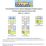 5 Activity Workbooks with Printable Challenging Sudoku Var