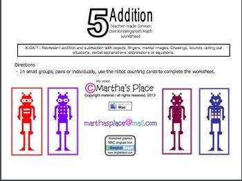 5 Addition Worksheet