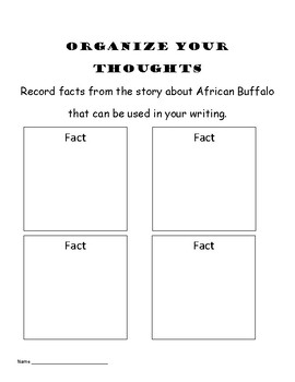 5 African Animal Writing Packets