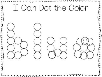 5 All About the Color Blue No Prep Tracing Preschool Worksheets and Activities.
