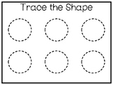 5 All About the Shape Circle No Prep Tracing Preschool Wor
