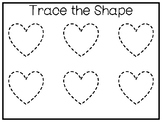 5 All About the Shape Heart No Prep Tracing Preschool Work