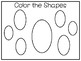 5 All About the Shape Oval No Prep Tracing Preschool Worksheets and Activities.