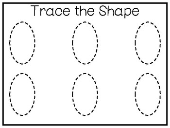 5 All About The Shape Oval No Prep Tracing Preschool Worksheets And Activities