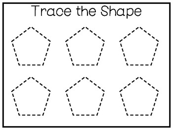 5 All About the Shape Pentagon No Prep Tracing Worksheets ...