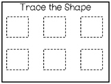 5 All About the Shape Square No Prep Tracing Preschool Wor