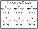 5 All About the Shape Star No Prep Tracing Preschool Works