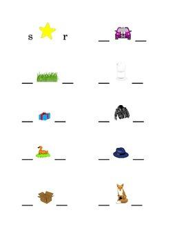 #5 Alphabet Write Beginning and Ending Consonants Pictures Kindergarten