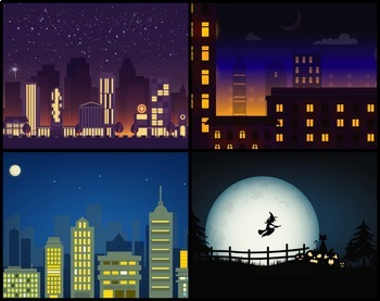 5 Animated Video Backgrounds - Night #1