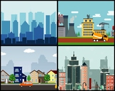 5 Animated Video Backgrounds - Cityscapes #1