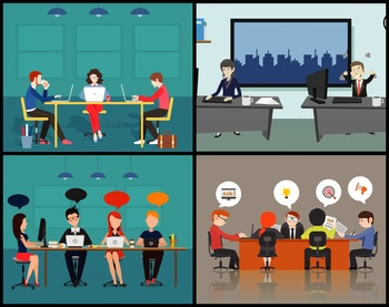 5 Animated Video Backgrounds - Office #1
