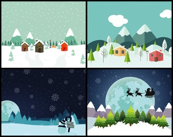 5 Animated Video Backgrounds - Snow Scenery #1