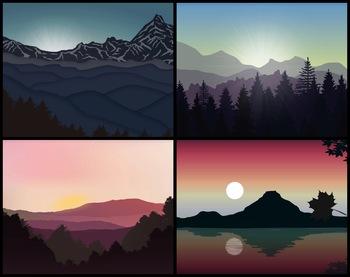 5 Animated Video Backgrounds - Sunrise & Sunset #1