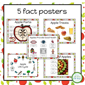 5 Apple Fact Posters FREEBIE