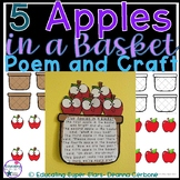 5 Apples in a Basket Poem and Craft