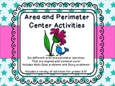 Area and Perimeter Multistep and Word Problems Test Prep Center Games