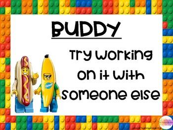 5 B's Lego themed classroom display