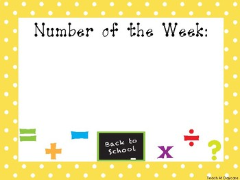 5 Back to School Themed Weekly Focus Posters.