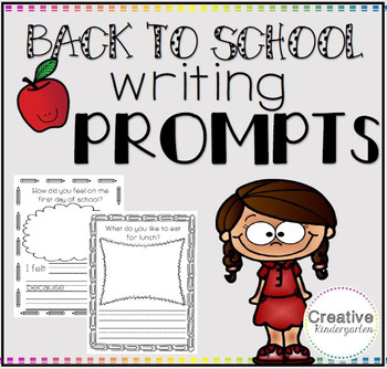 5 Back to School Writing Prompts