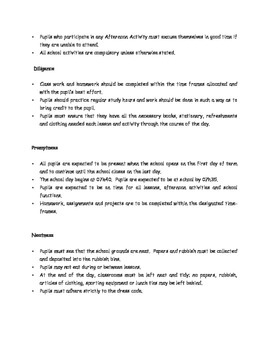 5 Basic School Rules for 2nd Grade