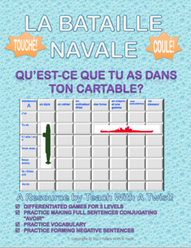 5 Differentiated battleship French games! Bataille Navale! Different topics