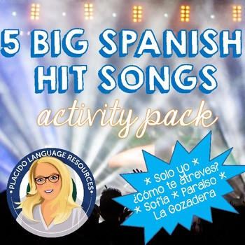 5 Big Spanish Hit Songs Activity Pack