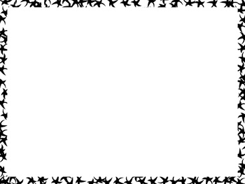 5 Black Fun Frames for Personal or Commercial Use, PNG and JPEG