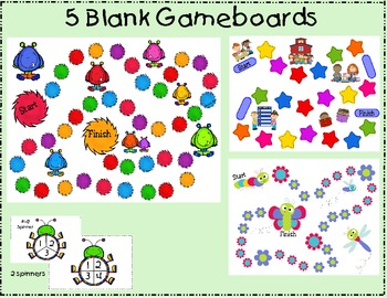 5 Blank Gameboards